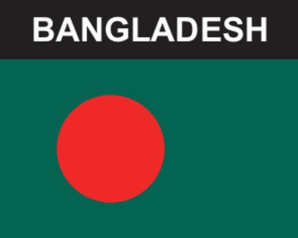 Flaggenaufkleber Bangladesch