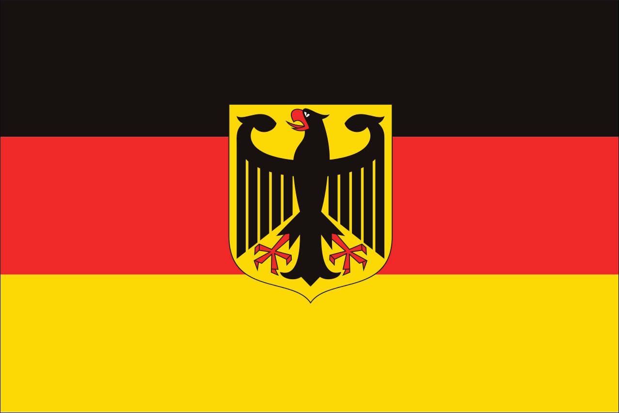 Flagge Deutschland mit Adler 110 g/m² Querformat