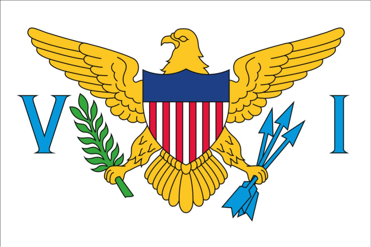 Flagge Amerikanische Jungferninseln 160 g/m² Querformat