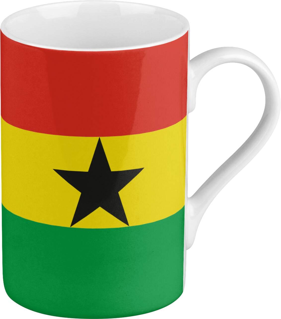 Kaffeebecher mit Motiv Ghanaflagge