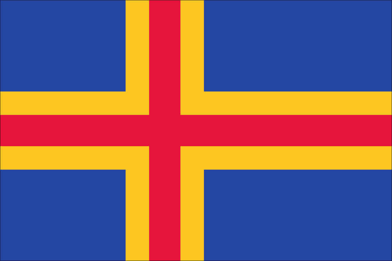 Flagge Aaland 160 g/m² Querformat