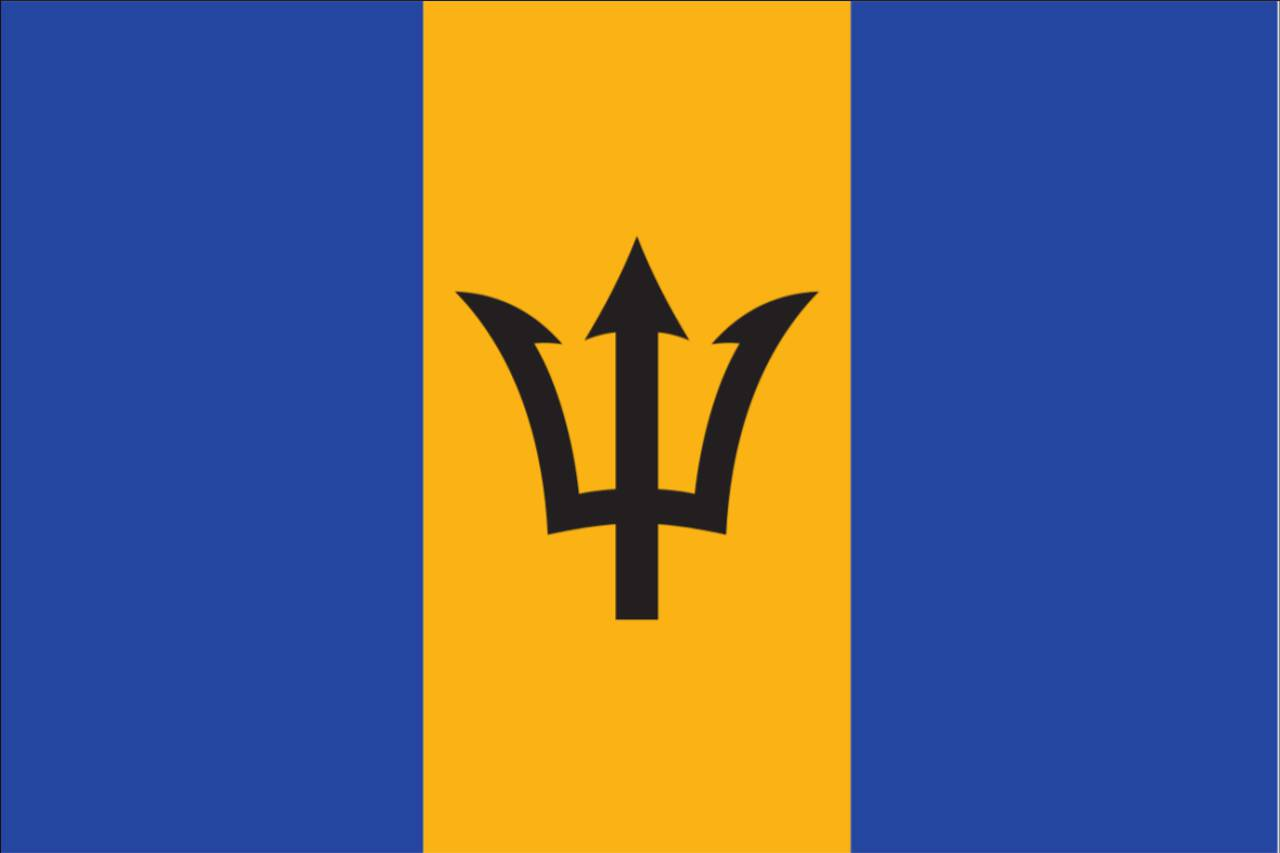 Flagge Barbados 120 g/m² Querformat