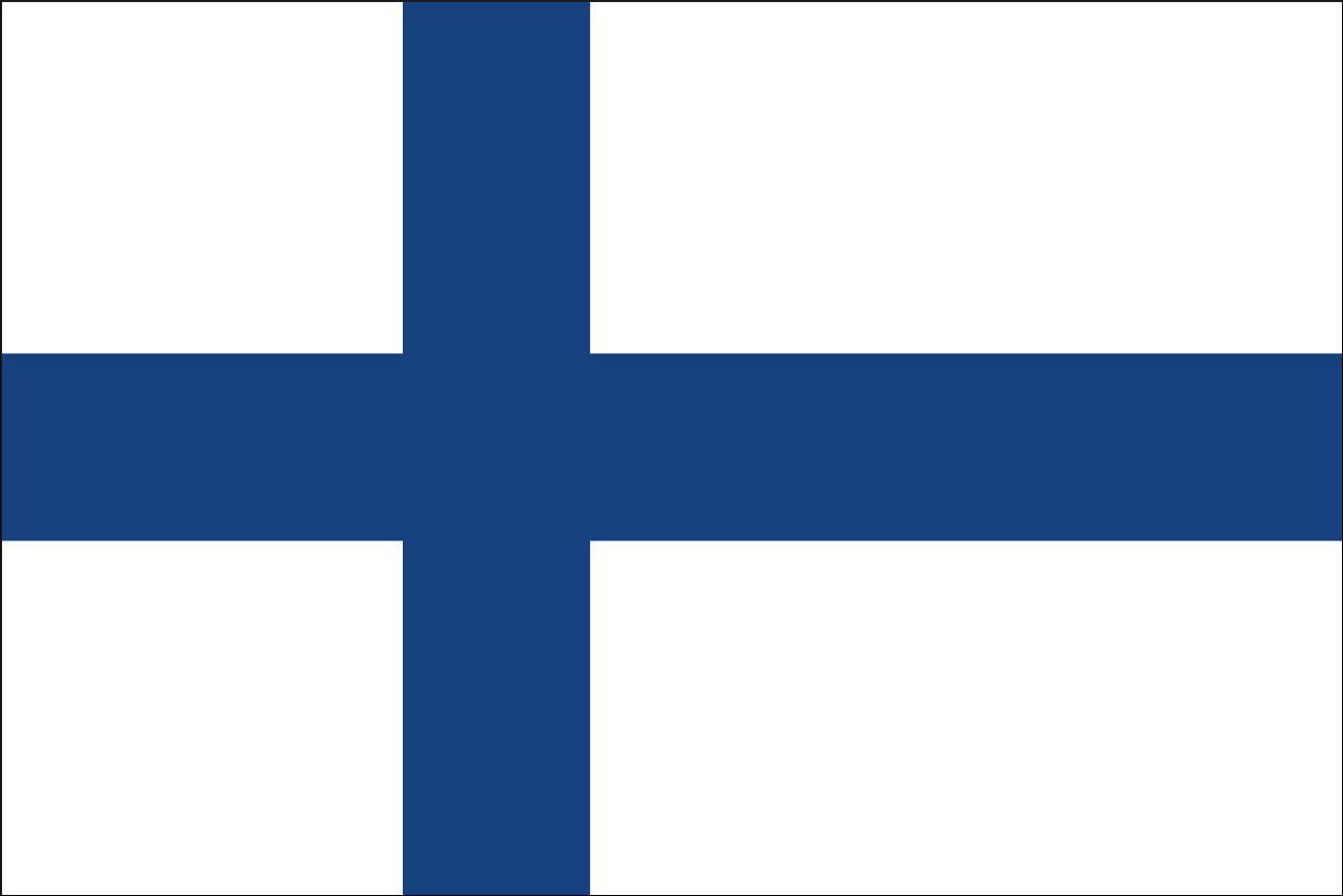 Flagge Finnland 80 g/m² ca. 30 x 45 cm