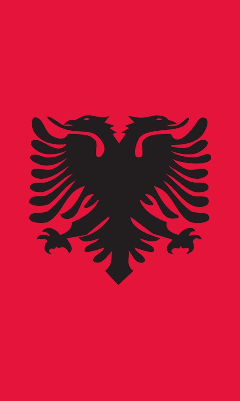 Tischbanner Albanien
