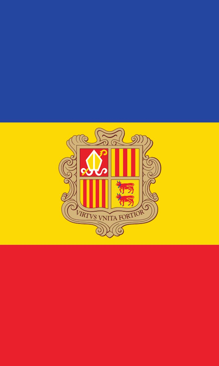 Tischbanner Andorra mit Wappen