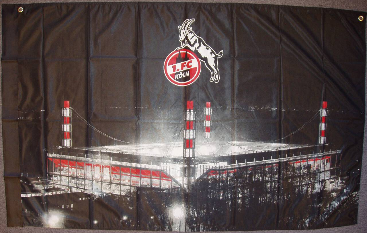 1. FC Köln Zimmerfahne Stadion
