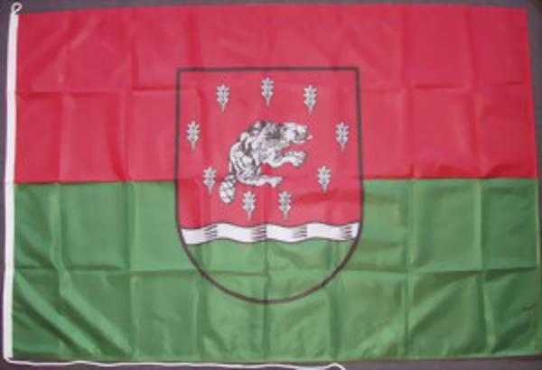Schnäppchen: Flagge Beverstedt Landkreis 110 g/m² Querformat, ca. 100 x 150 cm