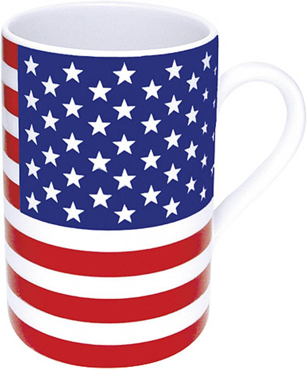 Kaffeebecher mit Motiv USAflagge