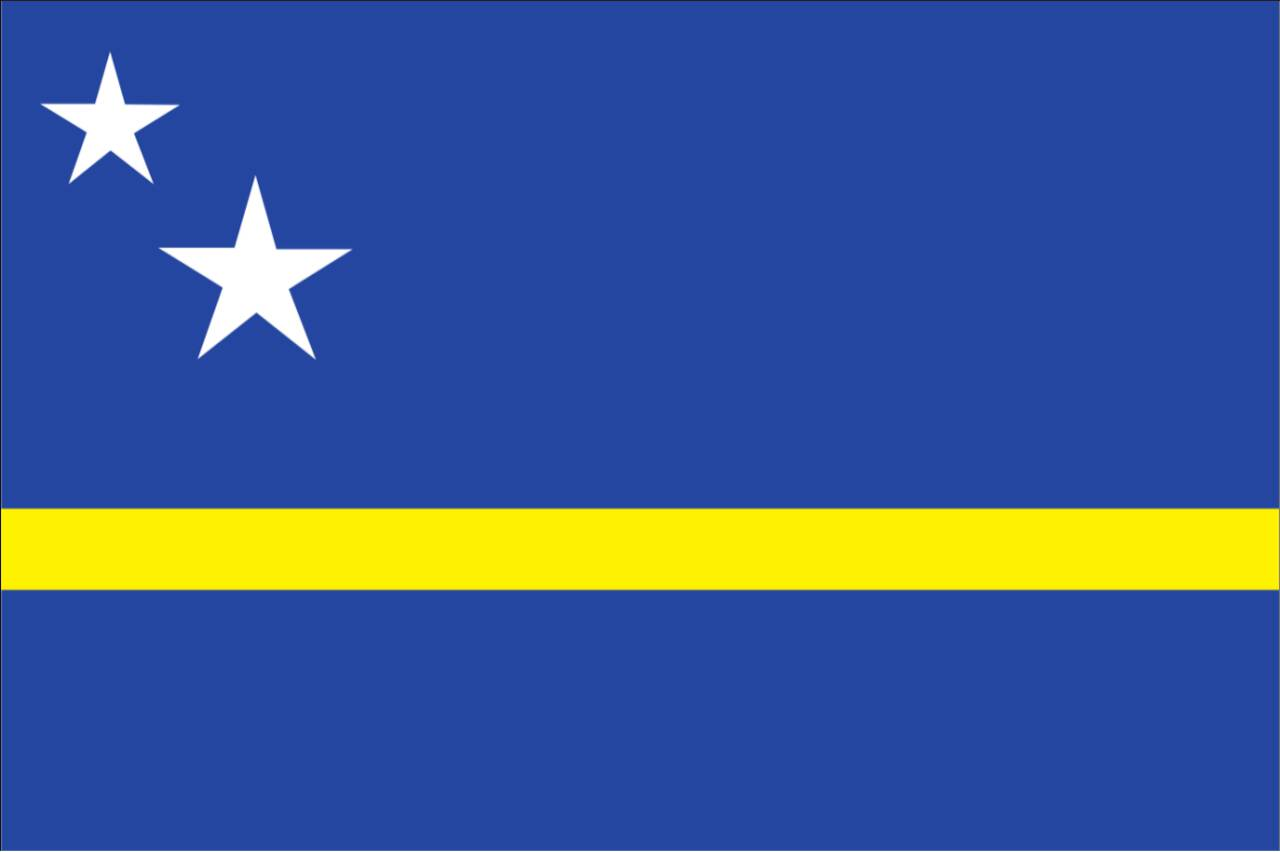 Flagge Curacao 120 g/m² Querformat