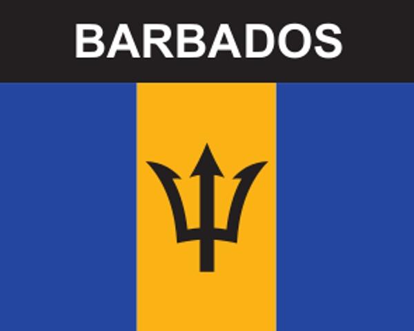 Flaggenaufkleber Barbados