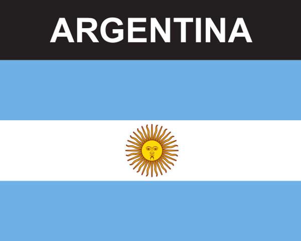 Flaggenaufkleber Argentinien