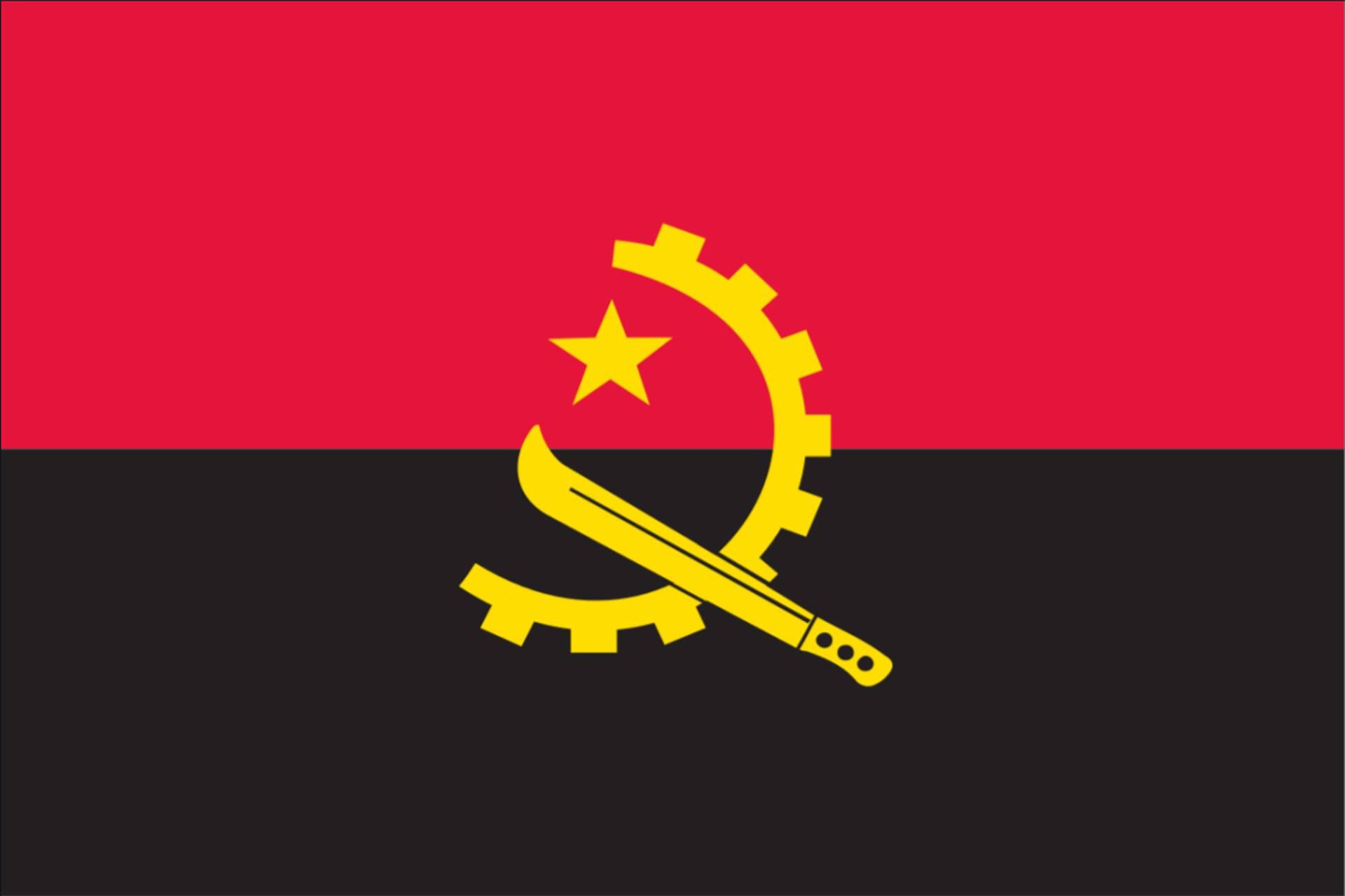 Flagge Angola 160 g/m² Querformat
