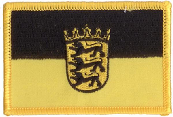 Flaggenaufnäher Baden-Württemberg mit Wappen