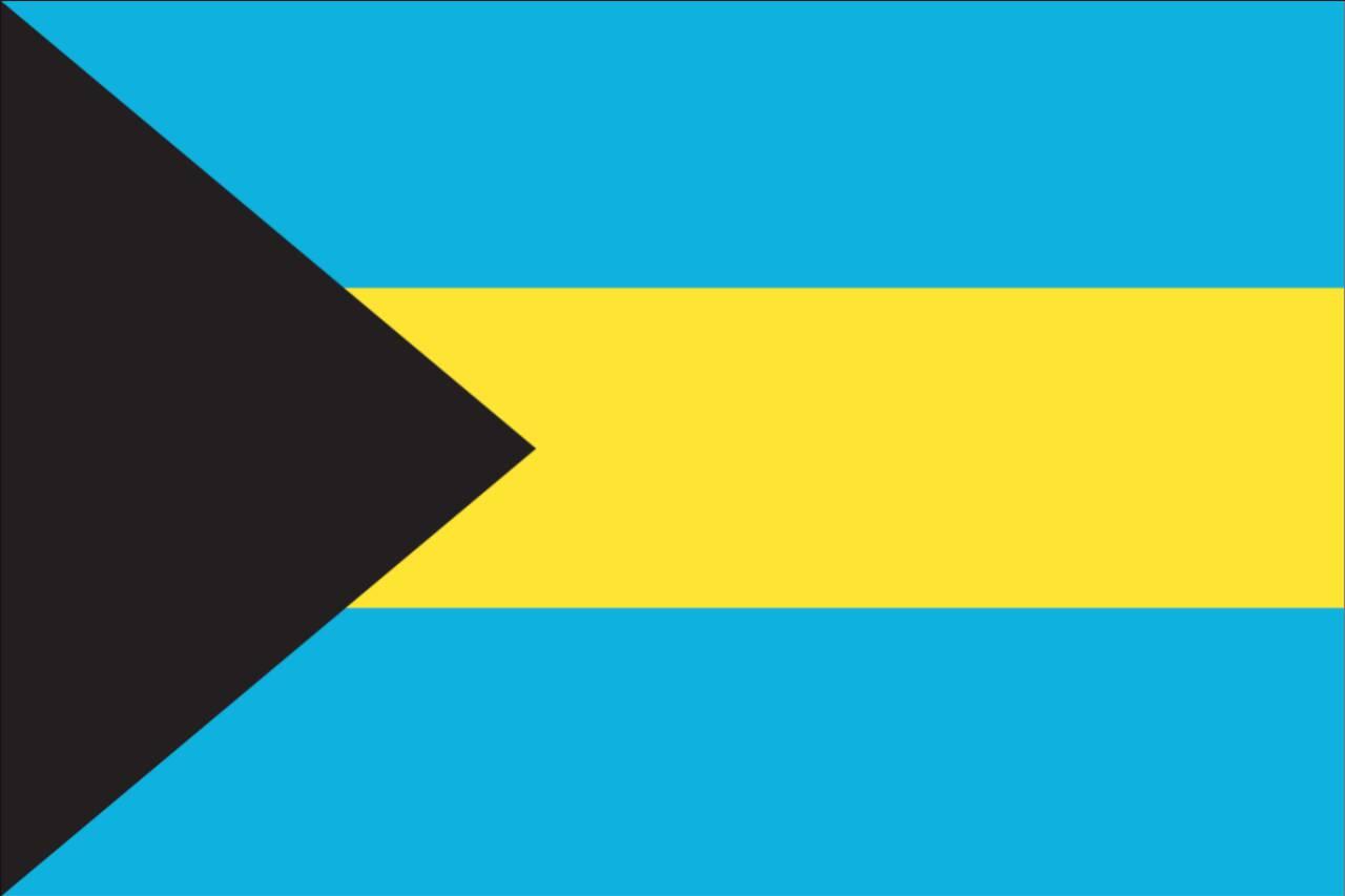Flagge Bahamas 120 g/m² Querformat