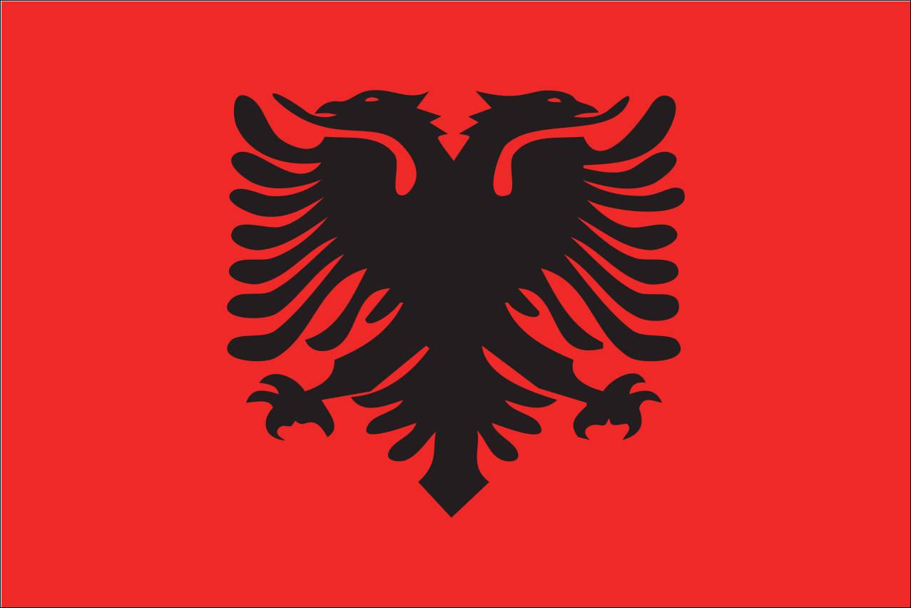 Flagge Albanien 160 g/m² Querformat