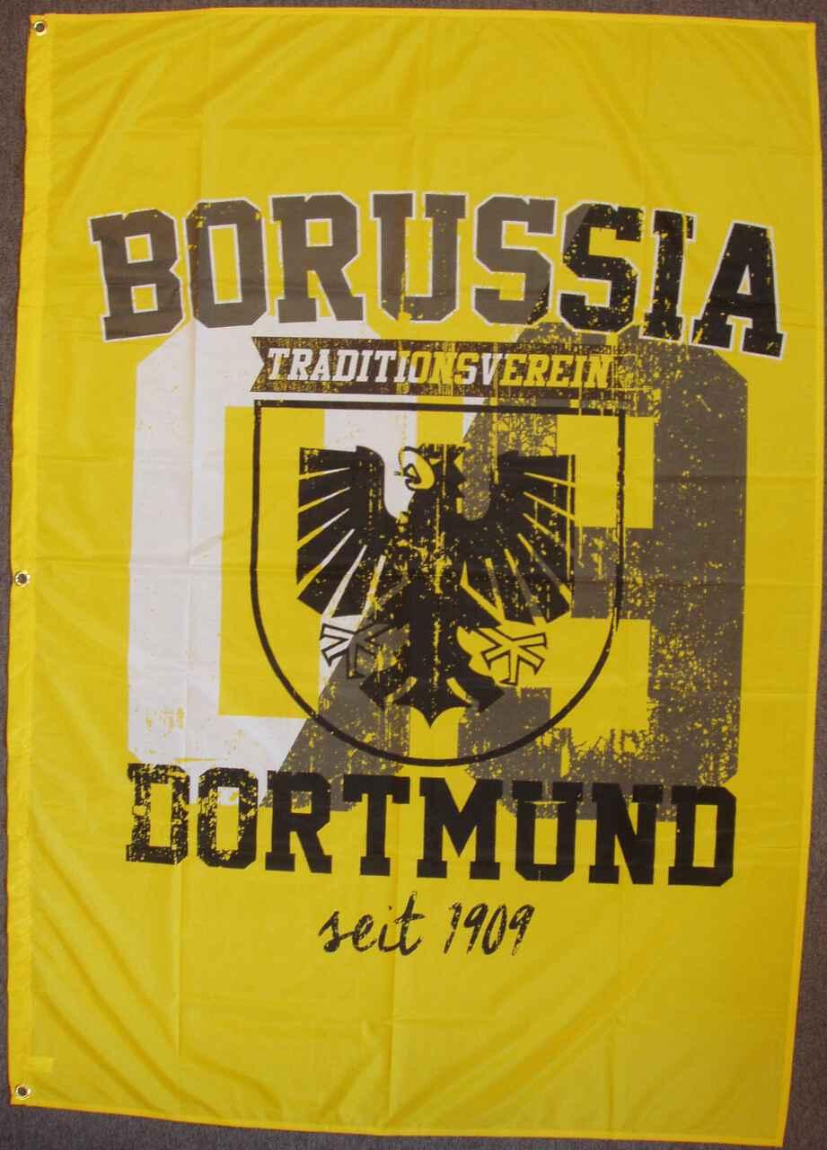 Borussia Dortmund Hissflagge mit Stadtwappen