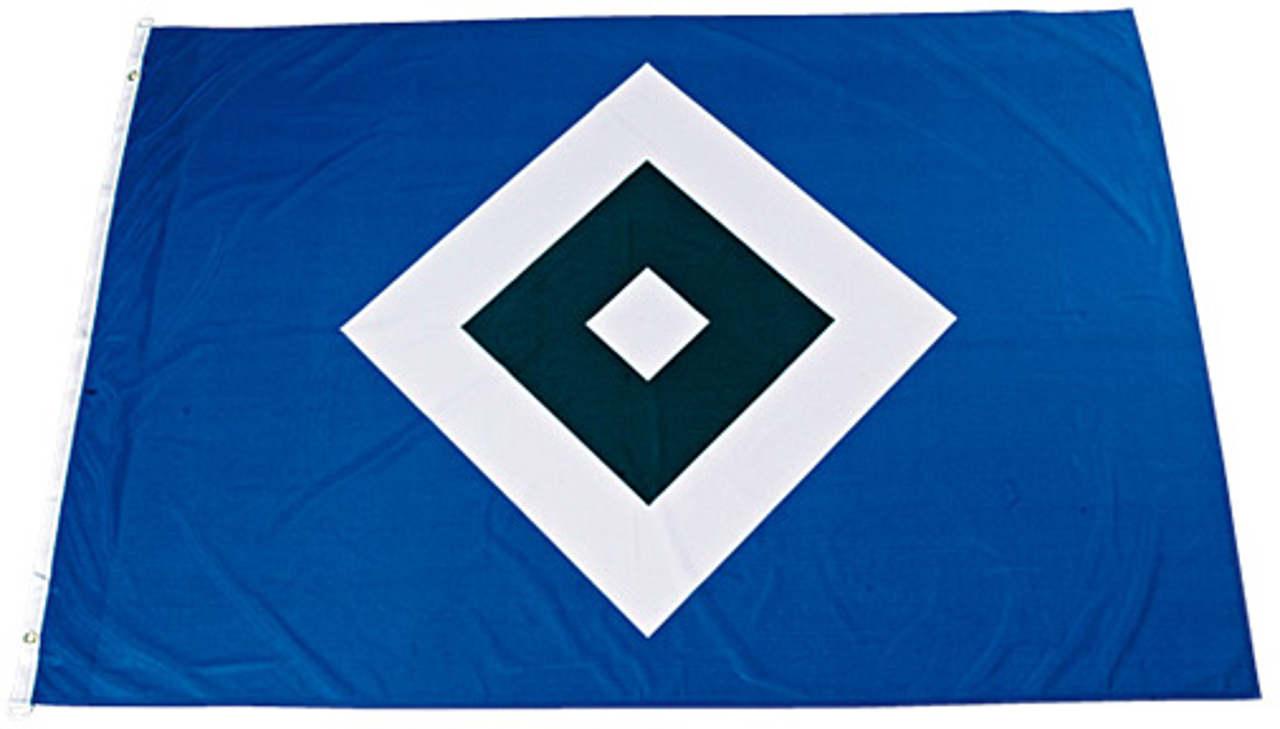 Hamburger Sportverein HSV Hissfahne Raute