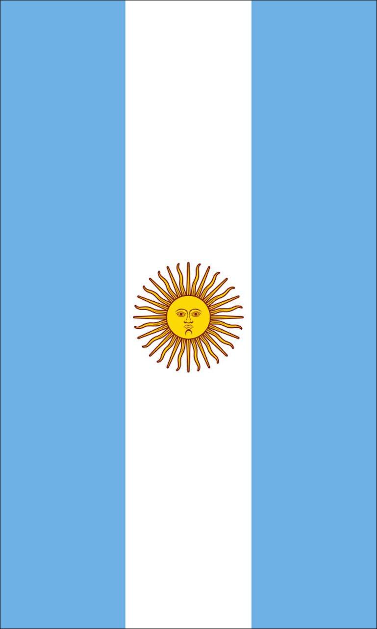 Tischbanner Argentinien mit Wappen