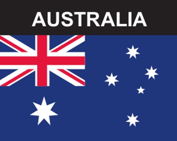 Flaggenaufkleber Australien