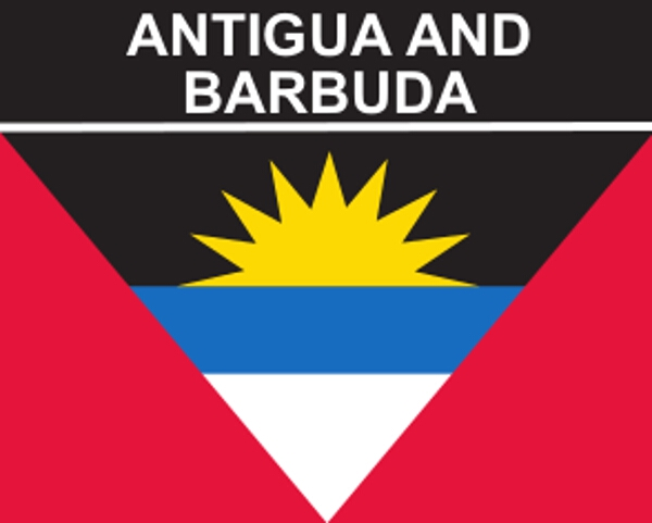 Flaggenaufkleber Antigua und Barbuda