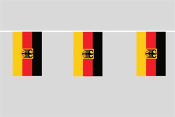 Flaggenkette Deutschland mit Adler 6 m 8 Flaggen