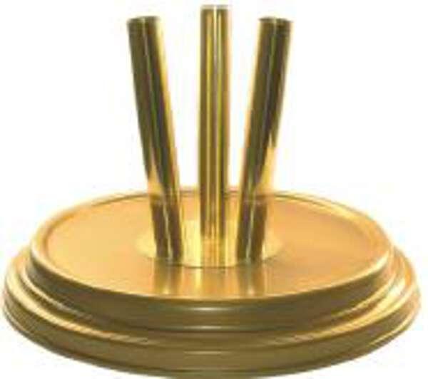 Raumständer MRG-3 3er Metall goldfarben Höhe 250 cm