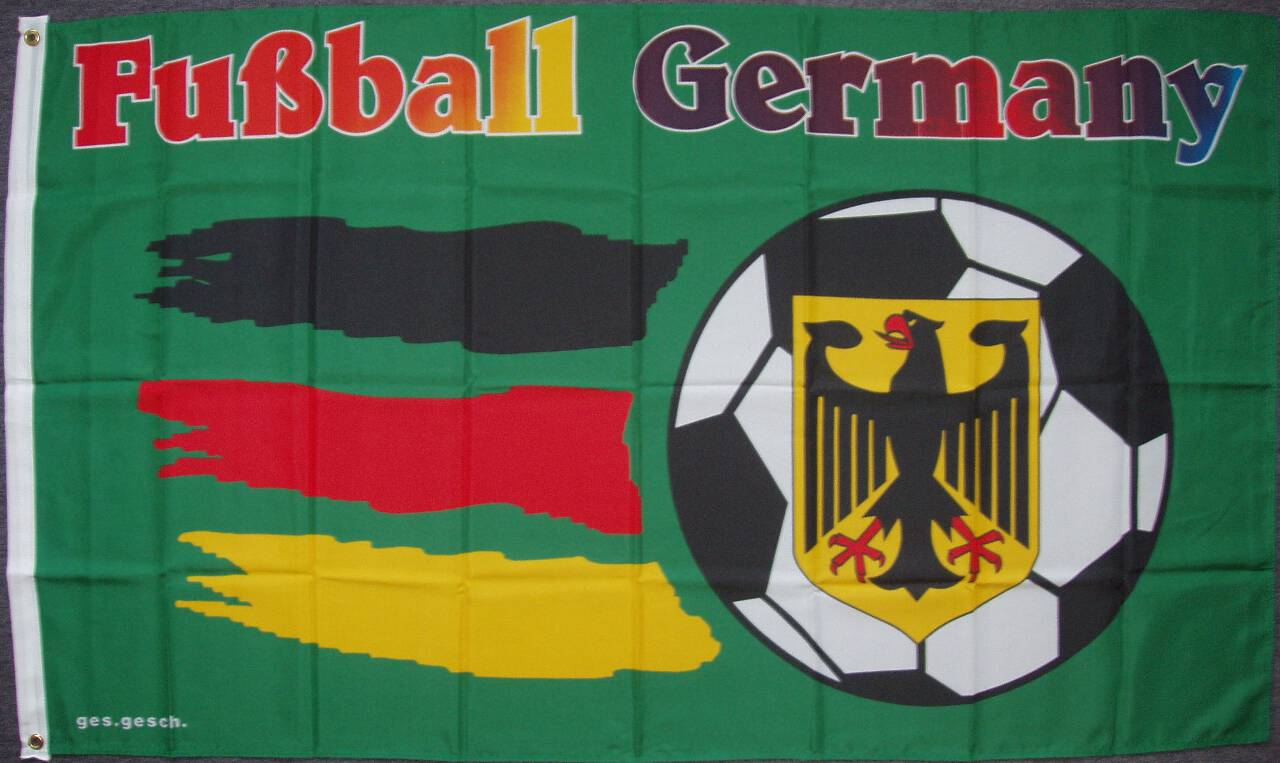 Flagge Fußball Germany 80 g/m²