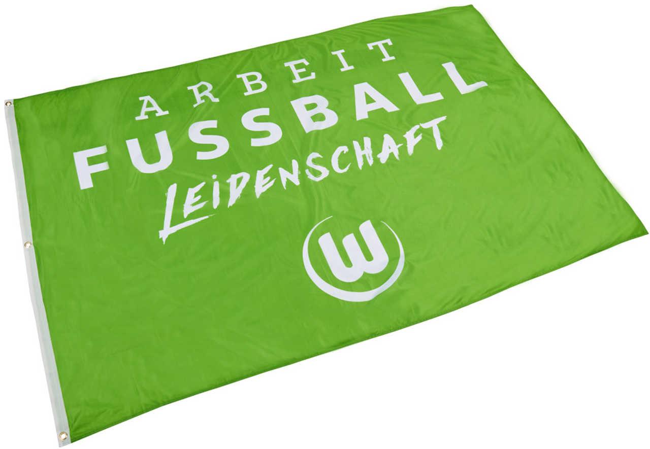 VfL Wolfsburg Hissflagge Arbeit Fußball Leidenschaft