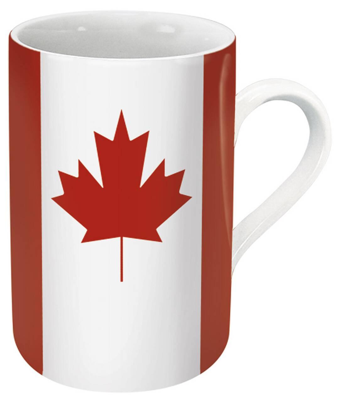 Kaffeebecher mit Motiv Kanadaflagge