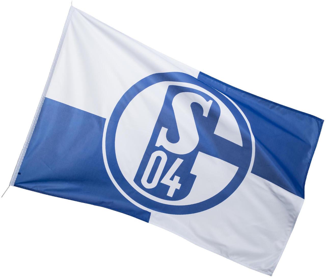 FC Schalke 04 Hissfahne Karo klein