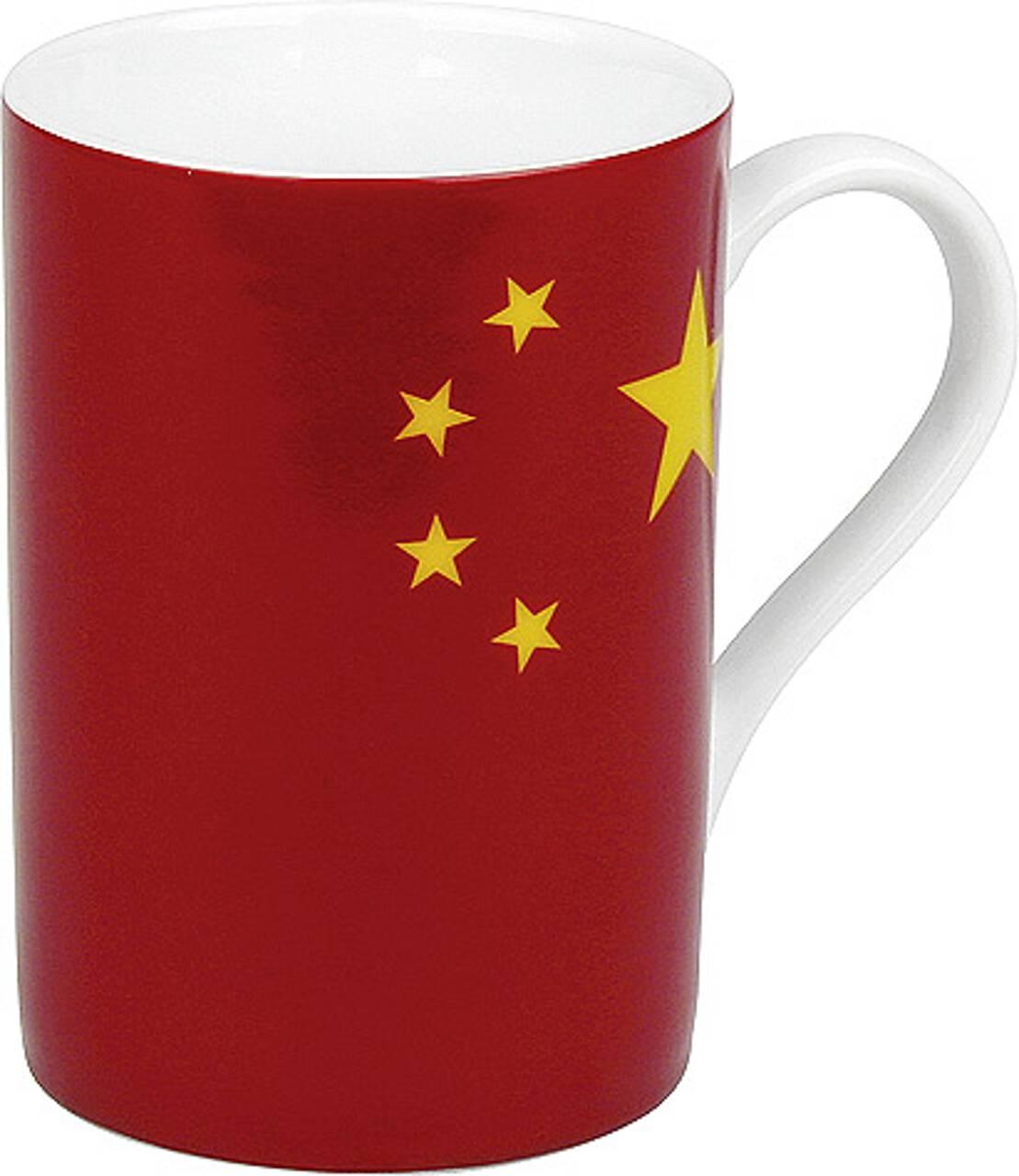 Kaffeebecher mit Motiv Chinaflagge