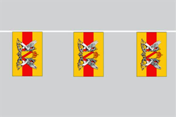 Flaggenkette Baden mit Wappen 6 m 8 Flaggen