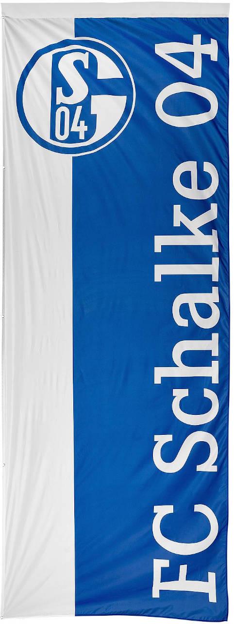 FC Schalke 04 Flagge blau weiß