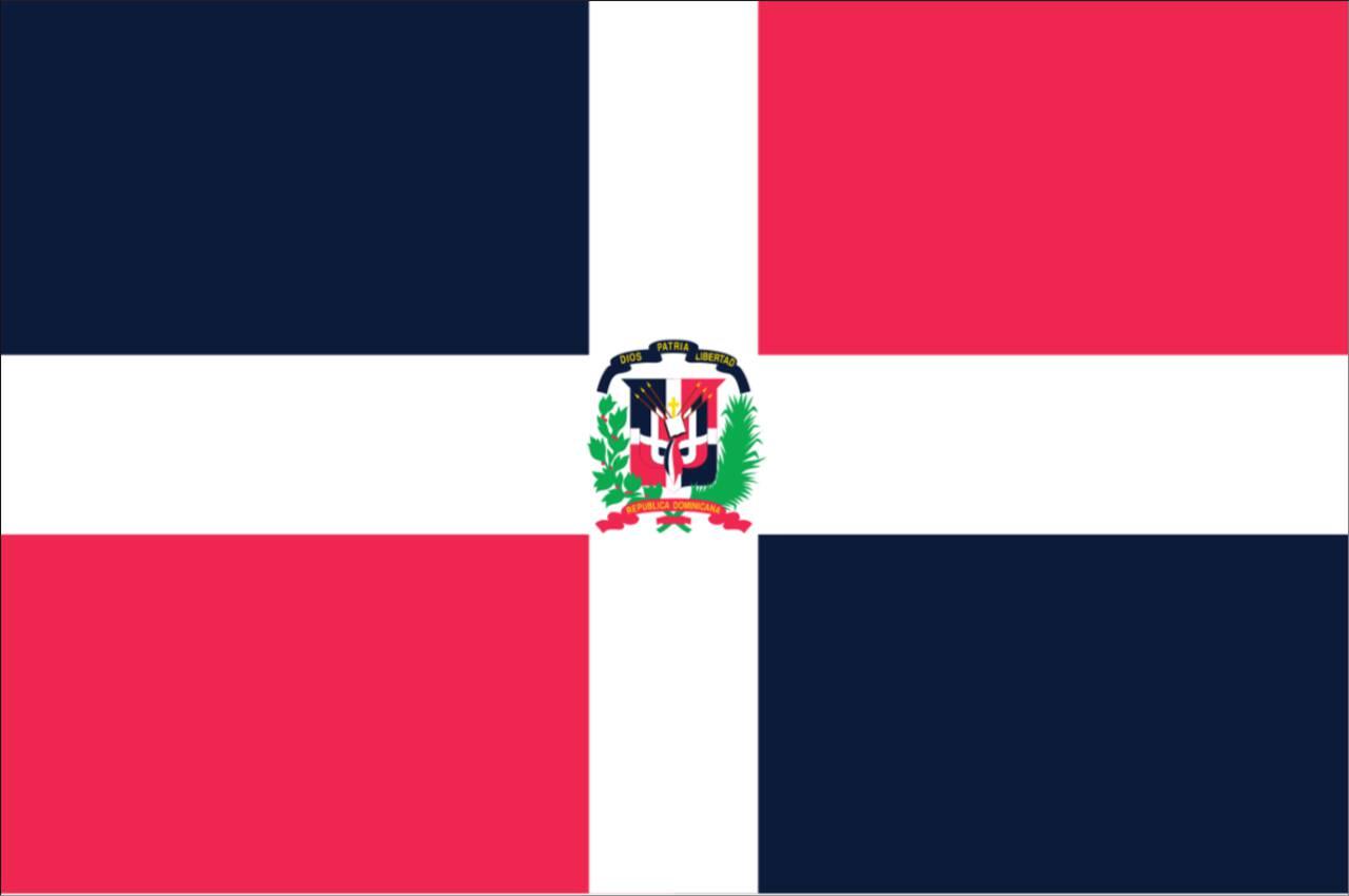 Flagge Dominikanische Republik 120 g/m² Querformat