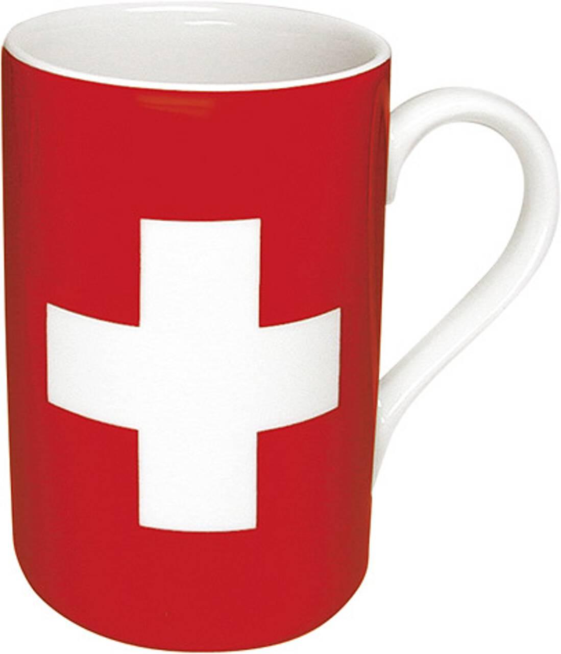 Kaffeebecher mit Motiv Schweizflagge