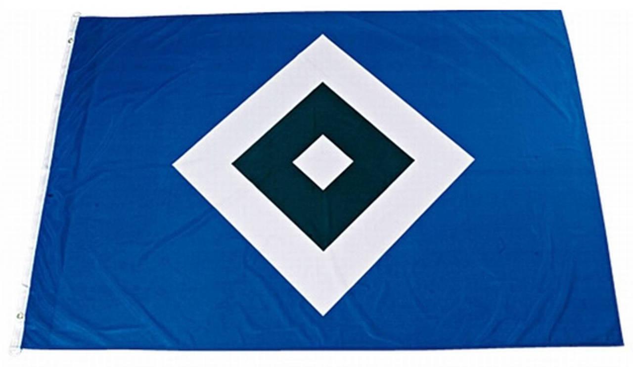 Hamburger Sportverein HSV Hissfahne Schrebergarten