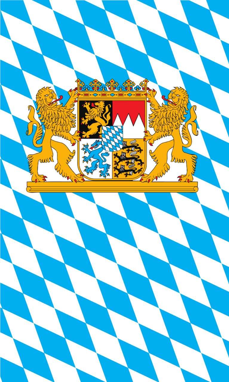 Tischbanner Bayern mit Wappen und Löwen