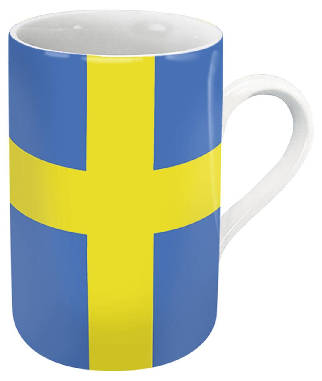 Kaffeebecher mit Motiv Schwedenflagge