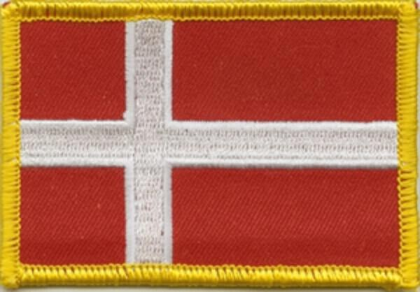 Flaggenaufnäher Dänemark