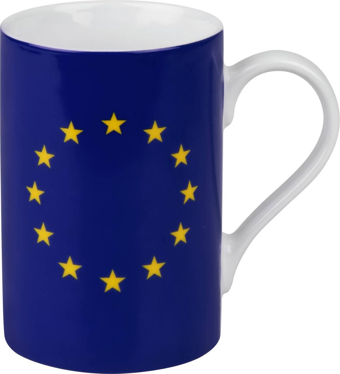Kaffeebecher mit Motiv Europaflagge