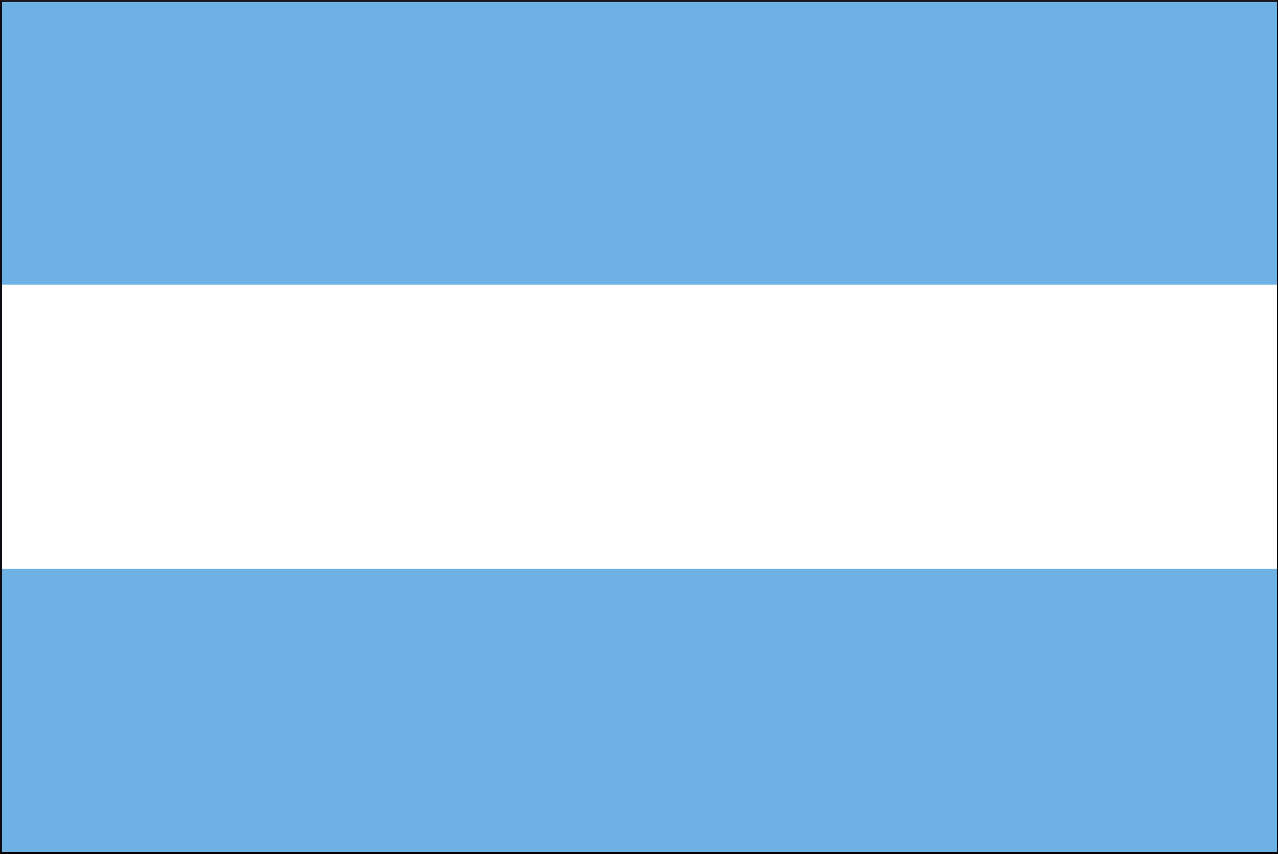 Flagge Argentinien 160 g/m² Querformat