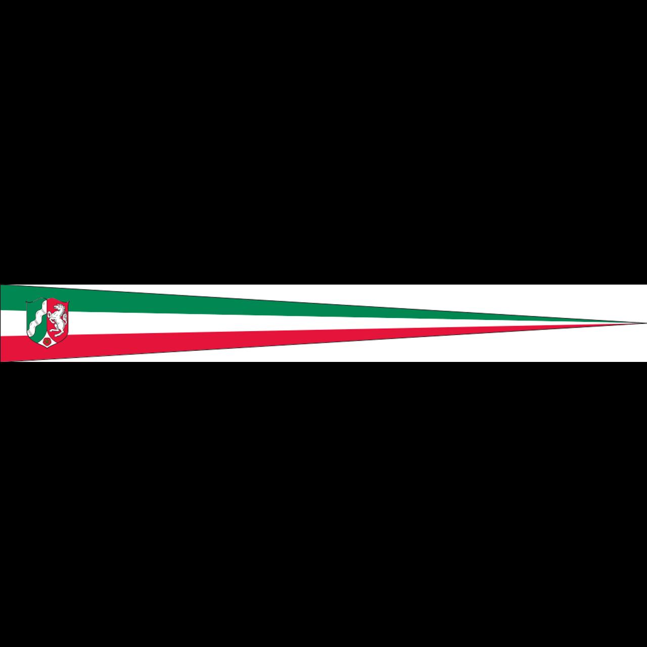 Wimpel Nordrhein-Westfalen mit Wappen 80 g/m²