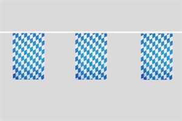 Flaggenkette Bayern kleine Rauten 6 m 8 Flaggen