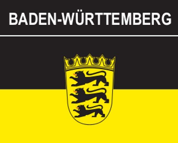 Flaggenaufkleber Baden-Württemberg mit Wappen