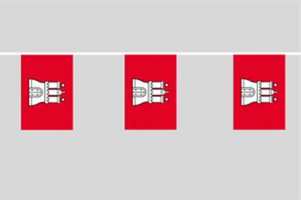 Flaggenkette Hamburg 6 m 8 Flaggen