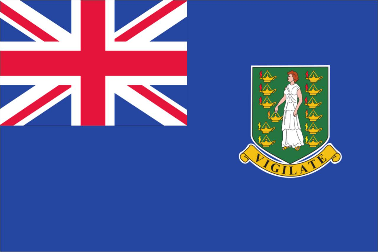 Flagge Britische Jungferninseln 120 g/m² Querformat