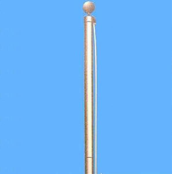 Flaggenmast aus Aluminium - 6,2 m hoch