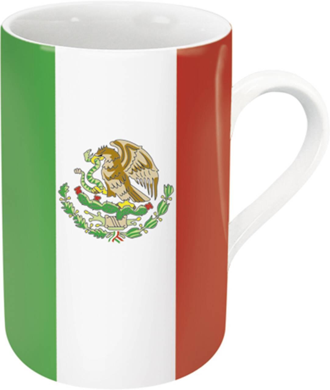 Kaffeebecher mit Motiv Mexikoflagge