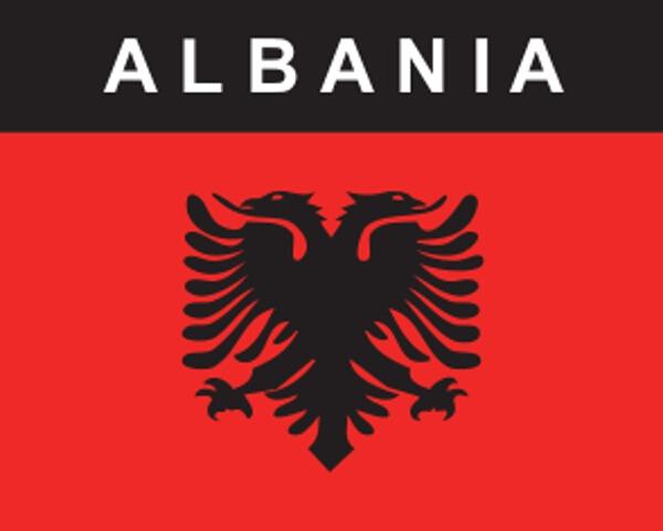 Flaggenaufkleber Albanien