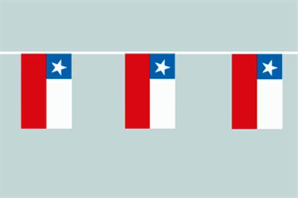 Flaggenkette Chile 6 m 8 Flaggen
